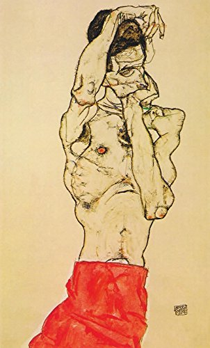 Standing male nude with red loincloth 1914 Poster Print by Egon Schiele (24 x 36)