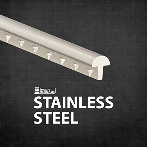 StewMac Stainless Steel Fretwire, Medium/Higher, 2-foot Pieces - 3 Pack (6 Feet Total) by StewMac (Image #1)