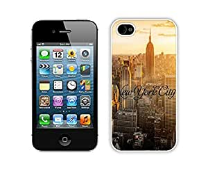 New Case For Iphone 5C Cover Durable Soft Silicone PC New York City Urban Retro Design White Cell Phone Accessories for Iphone 5C
