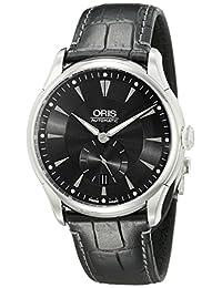 Oris Men's 623 7582 4074 LS Artelier Analog Display Automatic Self Wind Black Watch