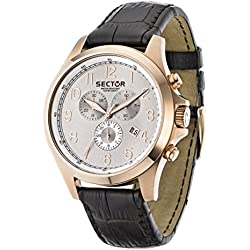 Sector Men's R3271690001 Contemporary 290 Analog Display Quartz Brown Watch