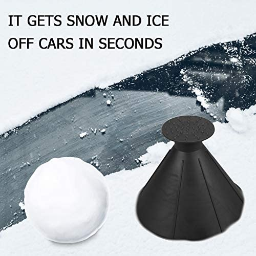 Magic Ice Scraper - Car Windshield Snow Removal Wiper - Snow Removal Funnel Tool - Cone-Shaped Windshield Ice Shovel -Snow Remover Deicer - Round Deicing Scraping Tool