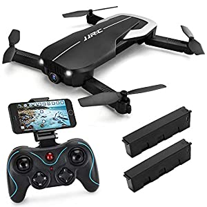 Drones with Camera 1080P for Adults,JJRC H71 WiFi FPV Live Video Quadcopter for Beginners, Foldable RC Drone RTF – Optical Flow Position Altitude Hold, Foldable Arms, APP Control 51q NQ81  2BL