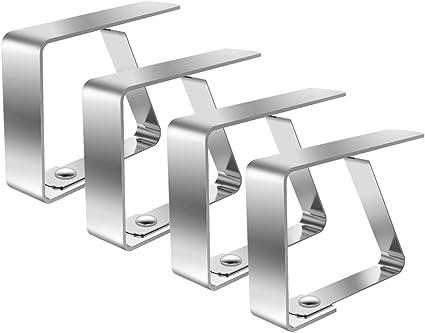 4 in Totale Limeo Acciaio Inox Fermatovaglia Tovaglia Clip in Acciaio Morsetto per Tovaglia in Acciaio Inossidabile Clip Tovaglia Morsetto Tovaglia Picnic Table Clips Supporto per Tovaglia