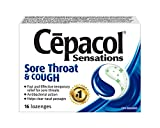 Cepacol Sensations, Fast and Effective Relief for Sore Throats, Cough, 16 Count