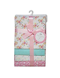 CRIBMATES Petite L'Amour Receiving Blankets Baby Girls Vintage Floral