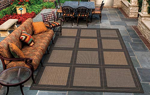 Cocoa Black Area Rug - Couristan 1043/2500 Recife Summit 8-Feet 6-Inch by 13-Feet Rug, Cocoa Black