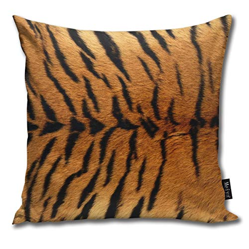 Hailiy Animal Tiger Print Print Home Decorative Throw Pillow Case Cushion Cover for Gift Bed Car Sofa
