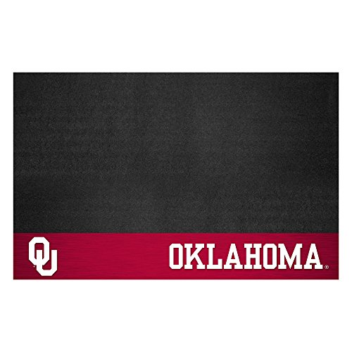 (Fanmats NCAA University of Oklahoma Sooners Vinyl Grill Mat)