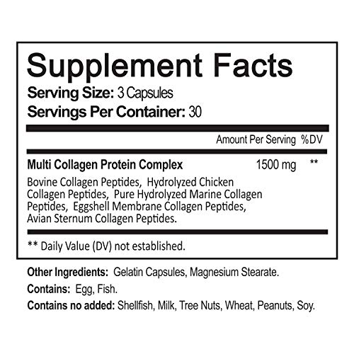 51q OSKvS6L - NutriFlair Multi Collagen Pills - Type I, II, III, V, X - Premium Collagen Peptides Complex for Anti-Aging and Healthy Joints, Hair, Skin, and Nails - Hydrolyzed Protein Supplement for Women and Men