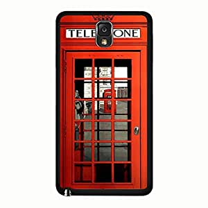 Galaxy Note 3 N9005 Case Personalized Custom Red British Phone Booth Phone Case Protective Shell Cover for Samsung Galaxy Note 3 N9005 British Phone Booth Unique Design