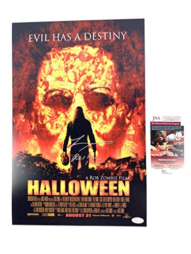 Tyler Mane signed 12x18 Movie Poster Halloween Rob Zombie Michael Myers -
