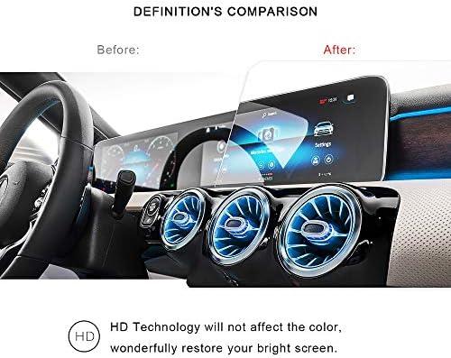 XHULIWQ 2パックスクリーン保護フィルムカーナビゲーションスクリーン9H強化ガラスプロテクター、メルセデスベンツAクラスw177 10.25インチ用