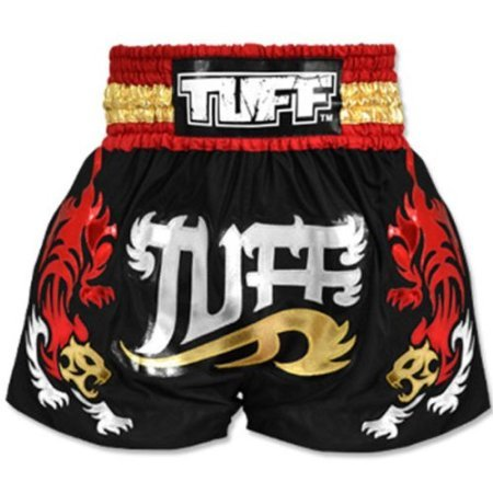 tuff-muay-thai-boxing-fight-training-black-shorts-tiger-501-free-express-ship-xxl