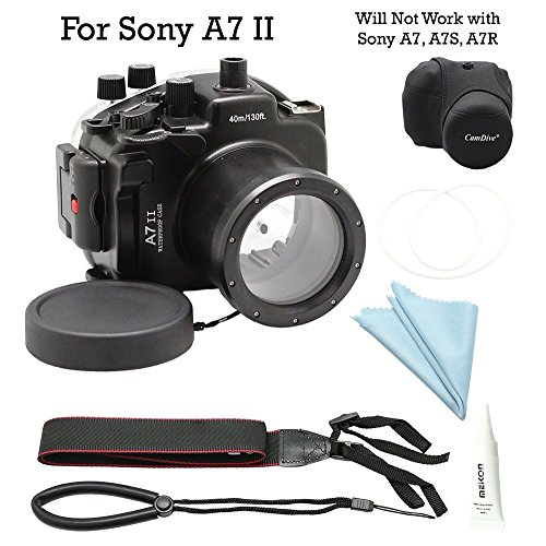 For Sony A7II A7R II A7S II [ILCE-7M2/7RM2/7SM2] 130FT/40M Underwater camera diving waterproof housing