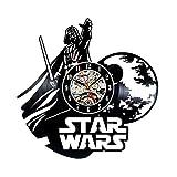 Handmade Star Wars Darth Vader Vinyl Record Clock For Sale