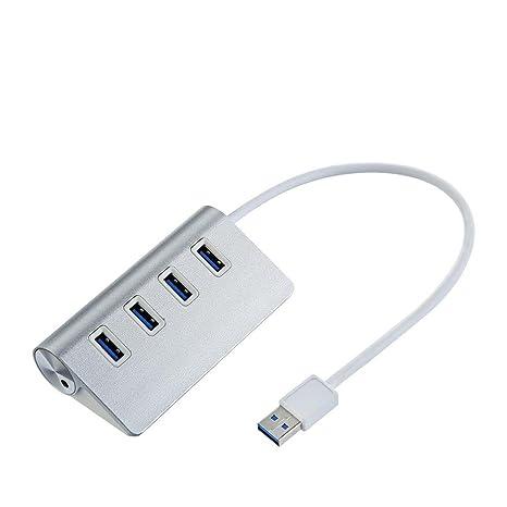 Asiright - Cable divisor USB 3.0 de 4 puertos de alta velocidad para ordenador portátil