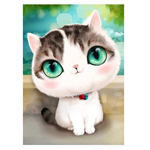 [Baiyu 5D Handmade Diamond Embroidery Painting Cartoon Cat Diamond Painting DIY Cross Stitch Mosaic Rubik's Cube Diamond Picture for Decoration Wall Sticker 4050CM, Full Diamond - Type B] (Mosaic Heart Ring)