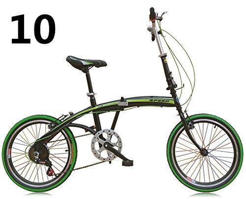 20インチ 折りたたみ自転車 折畳自転車 おりたたみ自転車全11色 おりたたみ自転車W423 B00QA14PM2 グリーン10 グリーン10