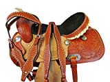 Orlov Hill Leather Co Comfortable DEEP DEAT Barrel Racing Saddle 15 16 Pleasure Show Western Horse TACK Set