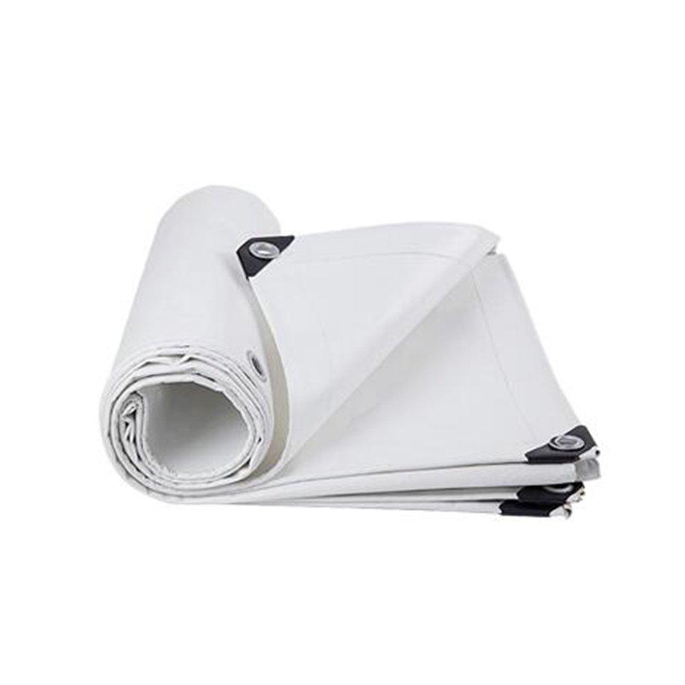 YANGFEI 防水シート タールスヘビーデューティ白防水UVブロッキング-0.4mm 550g/m² 耐久性に優れています B07FNDXMQV  白 5x 10m