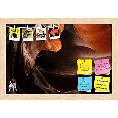 k in Antelope Valley Canyon Arizona, USA Printed Bulletin Board Notice Pin Board Cum Natural Brown Framed Painting 17.5 X 12Inch ()