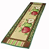 "NFS Kitchen Floor Mat Non Slip Area Rug 18""x45"" Jacquard Apples Design"