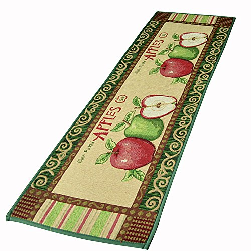 "NFS Kitchen Floor Mat Non Slip Area Rug 18""x45"" Jacquard Apples Design by NFS"