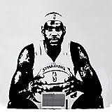 Fangeplus(R) DIY Removable LeBron Raymone James NBA Basketball Player Star Art Mural Vinyl Waterproof Wall Stickers Kids Room Decor Nursery Decal Sticker Wallpaper22.8''x22.8''