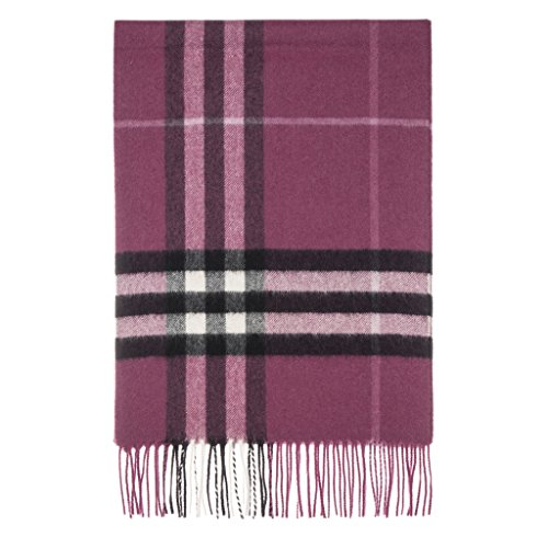 Burberry Women's Heritage Giant Check Scarf Purple Black by BURBERRY