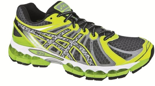 Asics - Zapatillas de running para hombre Black/Refl/FlashYell, color verde, talla US 11/UK 10 verde - verde