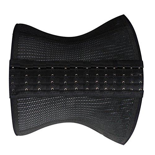 MagiDeal Cinturón de Cintura Transpirable de Respiración Cuerpo del Deporte para Mujeres Desnudo/Negro negro