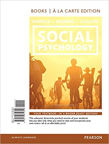 Amazon com: Social Psychology: Goals in Interaction (6th