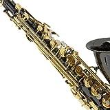 Mendini by Cecilio E-Flat Alto Saxophone, Black