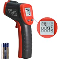IR Thermometer Infrared Temp Gun -58℉-716℉(-50℃-380℃) with Self Calibration and Max Min Measure (Not for People) Digital…
