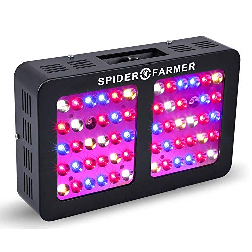 600W Led Grow Light Dimmable Reflector Series Spider Farmer Full Spectrum Veg and Bloom Dimmers for Indoor Plants Hydroponics Growing ()