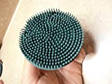 Tough 1 ONE Rubber HUNTER GREEN Face Brush Small Soft 1/4'' Rubber Bristles Face Curry