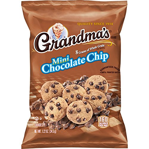 Grandma's Mini Whole Grain Chocolate Chip Cookies, 1.22 Ounce (Pack of 80) (Best Whole Grain Chips)