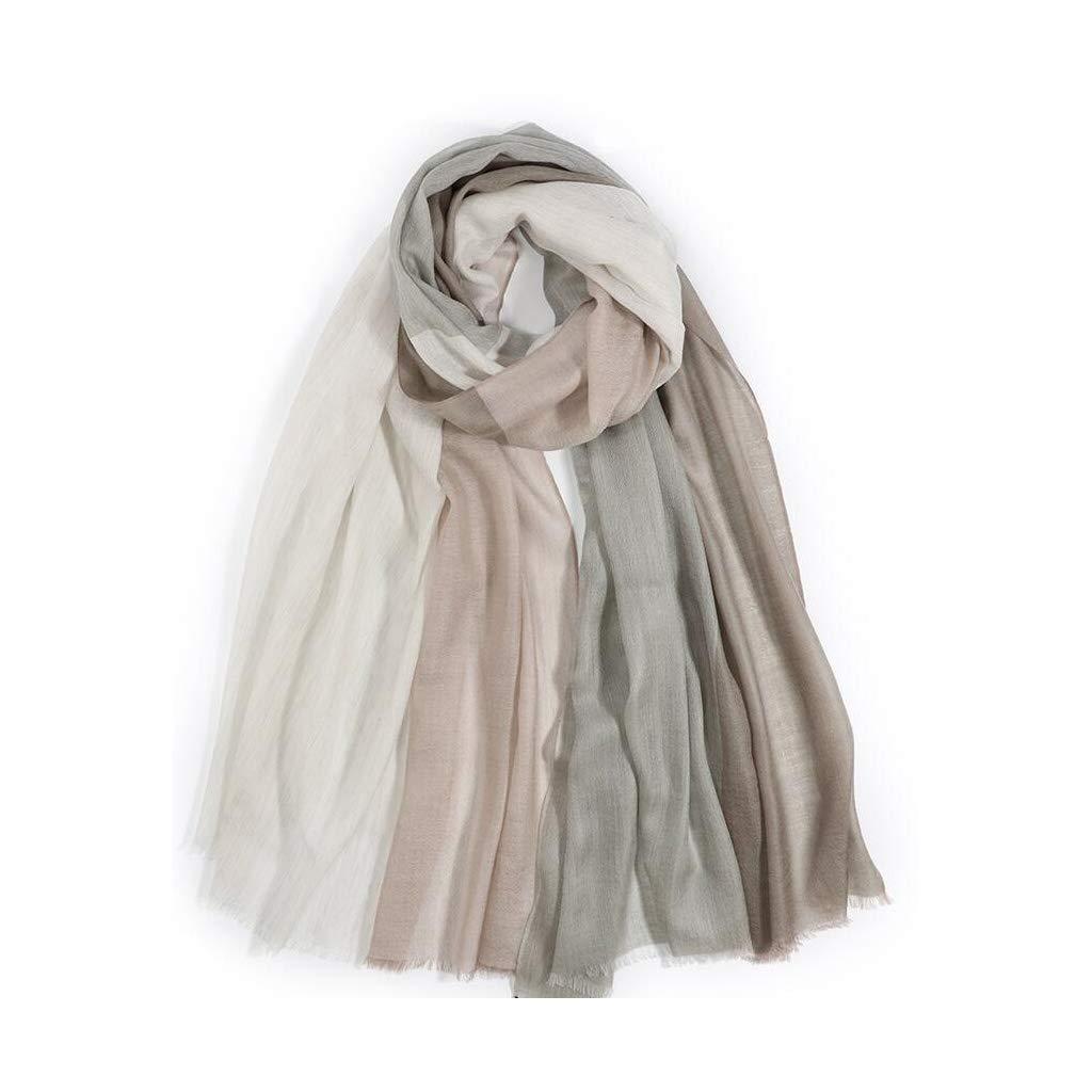 B JUN Plaid Scarf Shawl Dualuse Ladies Winter Cashmere Warm Wild Long Section (color   C)