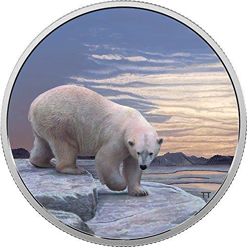 2018 CA Arctic Animals Northern Lights POLAR BEAR 2 Oz Silver Coin 30$ Canada 2018 2 Oz Proof (Womens Arctic Ca)