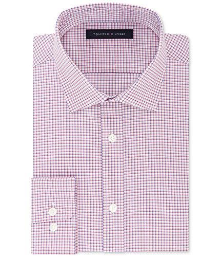 "Tommy Hilfiger Mens Fitted Flex Button Up Dress Shirt turnip 16.5"" Neck 32-33"" Sleeve"