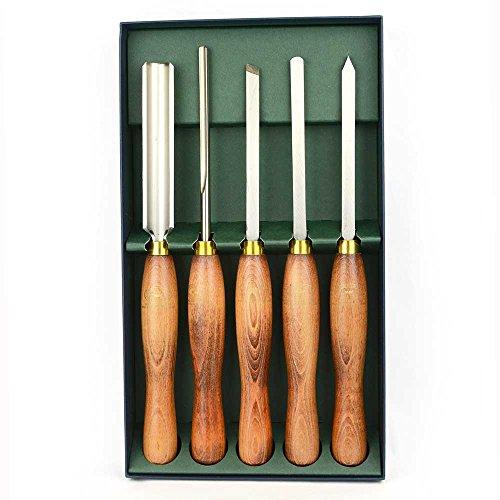(Crown 280 5 Piece HSS Wood Turning Tool Set)