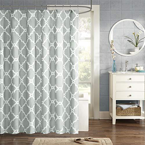 Madison Park MPE70-083 Essentials Merritt Shower Curtain 72x72 Grey