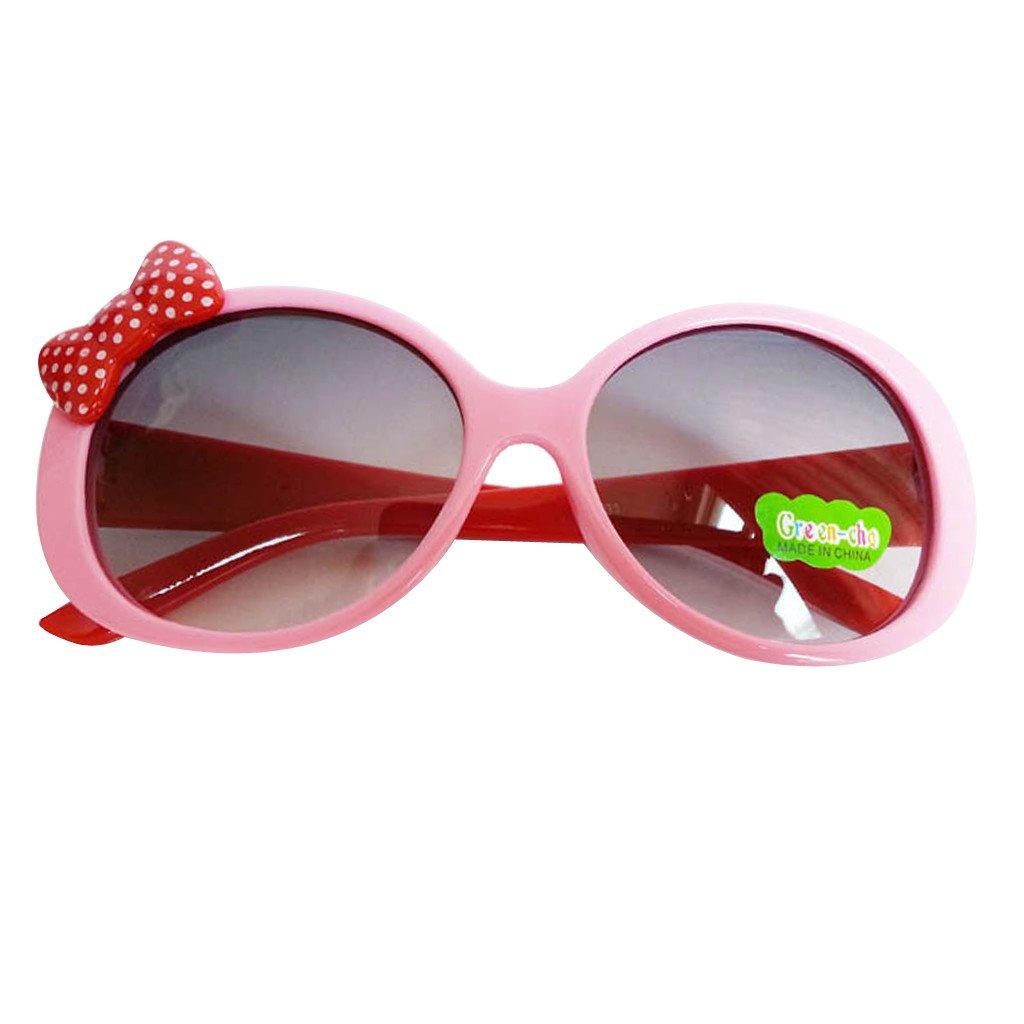 Kids Cute Fashion Bowknot Decoration Fun Sunglasses Gift Pink Frame Generic STK0115018614