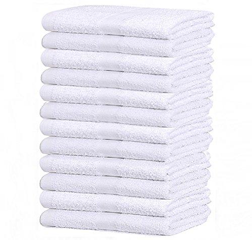 12 PACK WHITE ECONOMY 15X25 HAND TOWEL 100% COTTON - 2.25 LB/DOZEN (1 DOZEN ) (12)