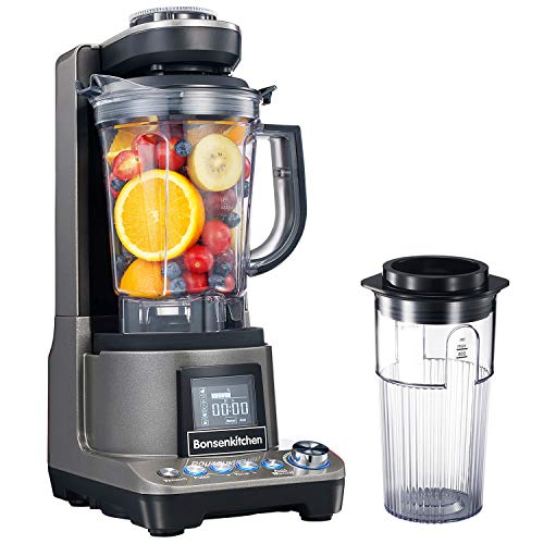 Bonsenkitchen Vacuum Countertop Blender High Speed Anti-Oxidation Mixer with Vacuum Cup