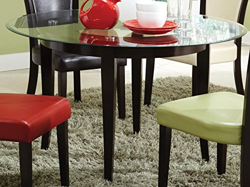 (Coaster Home Furnishings Paxton Round Glass Top with 1