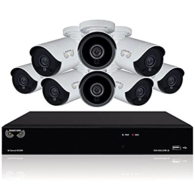 Night Owl 16-Channel 1080p Security System with 1 TB Hard Drive, 8x 1080p Bullet Cameras, and 100 Night Vision from Night Owl