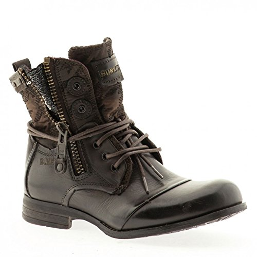 BUNKER - ZIP -B28- Damen Ankle BOOT Stiefelette smoky