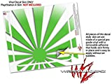 Rising Sun Japanese Flag Green - Decal Style Skin fits Sony PlayStation 4 Slim Gaming Console